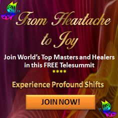 TODAY:  Hey guys, I'll be back on the From Heartache to Joy telesummit with more great, free healings!  It's free! You can sign up here:   Monday, August, 22nd 8AM PACIFIC / 9AM MOUNTAIN / 10AM CENTRAL / 11AM EASTERN / 3PM GMT  Can't make it to the live show?  Sign up anyway, to receive the replay link by mail.    #Earn5000aMonth #InfinityHealing