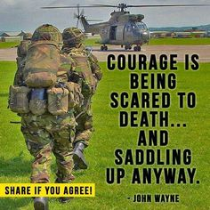 The courage of our armed forces! Military Humor, Military Love, Luftwaffe, Gi Joe, Motivational Military Quotes, Marine Quotes, Warrior Quotes, Army Mom, Us Marines