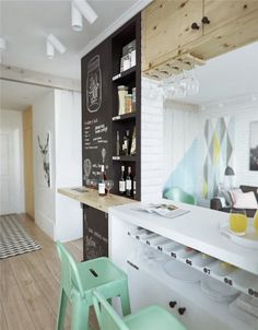 6 Dazzling Tips: Vintage Home Decor Ideas Wall Colors vintage home decor retro spaces.Vintage Home Decor Kitchen Chairs vintage home decor kitchen dressers.French Vintage Home Decor Grain Sack. Small Apartments, Small Spaces, Deco Pastel, Blackboard Wall, Chalkboard Paint, Chalk Wall, Black Chalkboard, Sweet Home, The Design Files