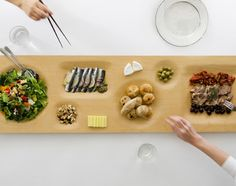 An Elegant Communal Plate That Blends In With Your Dining Table