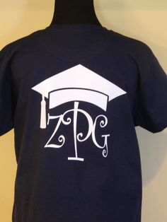 Graduation T-Shirt  Great for the Senior in your life PolkaDottedSunflower, $22.95
