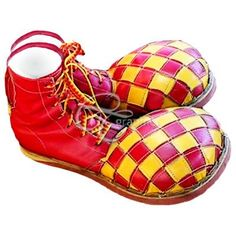 Clown Shoes for Frank but circles and stripes in yellow instead of checkers Circus Clown, Circus Theme, Clown Pics, Clown Paintings, Clown Shoes, Pierrot, Send In The Clowns, Clowning Around, Night Circus