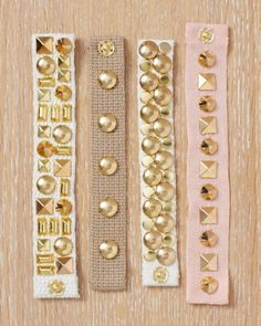 Studded Cuff Bracelets How-To