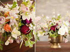 gorgeous centerpiece by sarah winward shot by lindsey orton for Utah Bride Blog's flower recipe series.