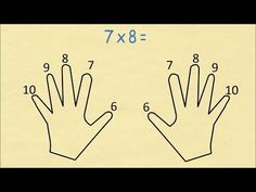 Always Remember Your Times Table (6 to 10) Using Finger Multiplication - YouTube