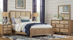 Stillwater Cove Oatmeal 5 Pc Queen Panel Bedroom
