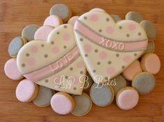 Lizy B: Silvery Pink Tutorial Galleta de San Valentín ... En