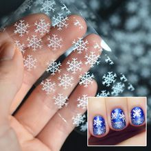 Invierno del copo de nieve hoja del clavo del arte del clavo Transfer Sticker calcomanías manicura DIY 100 cm * 4 cm(China (Mainland))