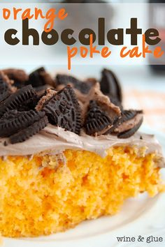 Orange Chocolate Poke Cake