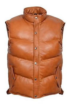This vest is Made of TOP QUALITY Pure lambskin Very Smooth and HOT Leather. Made from genuine real soft lambskin leather with a thick quilt. Made of high quality, soft and comfortable lambskin leather with hot and stylish look. Lambskin Leather Jacket, Biker Leather, Leather Men, Brown Leather, New Mens Fashion, Fashion Wear, Leather Fashion, Polo Sweater Mens, Waistcoat Men
