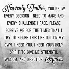 Prayer for Strength, Wisdom and Direction