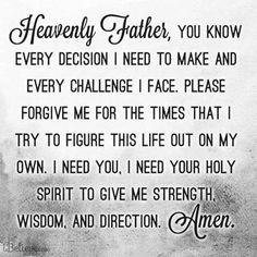 Prayer for Strength, Wisdom and Direction