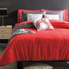 New Boys Red Gray Headphones Music Sound Comforter Bedding