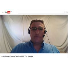 Thank you Tim Wesley for sharing your personal experience with LinkedSuperPowers. Your testimonial means a lot to us! Hearing positive feedback like yours is what makes it all worthwhile!! Thank you once again! #video #testimonial #linkedin #linkedsuperpowers