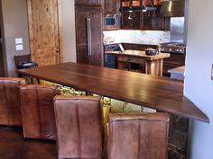 DeVos Custom Woodworking - Slab Walnut Wood Countertop Photo Gallery