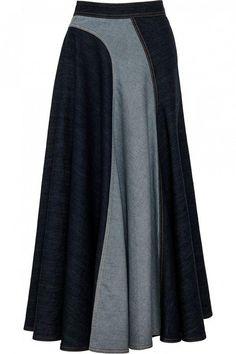 Trendy Skirt Pattern Denim Ideas Source by ideas skirt Modest Fashion, Hijab Fashion, Fashion Dresses, Skirt Outfits, Chic Outfits, Mode Tartan, Denim Ideas, Jeans Rock, Dress Patterns