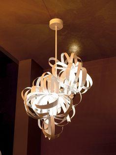 Suspended ribbons #ceilinglight #interiordesign #ribbons #lighting