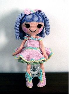 this page has lots of characters to crochet ... lala loopsies and smurfs, etc.