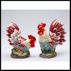 Red Rooster Salt and Pepper Shakers