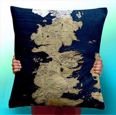 Game of Thrones map pillow | Etsy