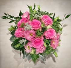 """Our """"Pretty In Pink"""" floral design. Pretty In Pink, Floral Design, Floral Wreath, Wreaths, Home Decor, Floral Crown, Decoration Home, Door Wreaths, Room Decor"""