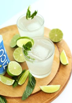 COCONUT Gin and Tonics! 4 ingredients, perfectly sweet-tart and SO refreshing!