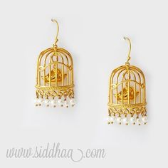 Bird Cage Earrings. www.siddhaa.com