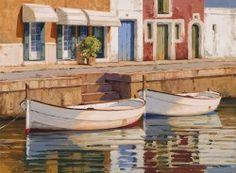 Art gallery at Menorca Island Menorca, Marines, Art Gallery, Pouch, Colours, Watercolor, Island, Watercolors, Paintings