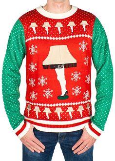 Men s Leg Lamp Major Award Sweater (Red Green) - Ugly Holiday Sweater ( e47b9ab26