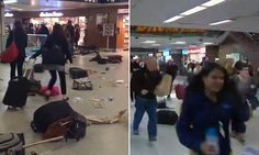 BREAKING NEWS: Panic at New York's Penn Station as cops taser a man causing a stampede of passengers who feared he had a gun