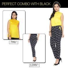 Perfect combo with black #9rasa #ethnicwear #ethniclook #fusionfashion #perfectcombo #top #straightpants