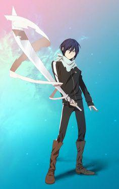 Yato Fan Art by Nerior Yatogami Noragami, Yato And Hiyori, Noragami Anime, All Anime, Manga Anime, Anime Art, Neko, Yatori, Fanart