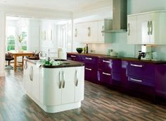kitchens b and q aubergine - Google Search