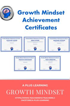 These growth mindset achievement certificates for teens are a great way to recognize your students throughout the year or end of the year. School Resources, Classroom Resources, Classroom Organization, Classroom Management, List Of Awards, Insert Text, Student Awards, Go Getter, My Teacher