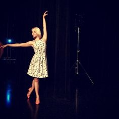 Dianna Agron on the set of #glee! #GleeSeason6