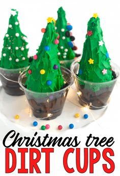 Christmas Tree Dirt Cups - I Can Teach My Child! Christmas Activities For Toddlers, Christmas Crafts For Kids, Simple Christmas, Winter Christmas, Winter Fun, Winter Holidays, Xmas, Kid Crafts, Handmade Christmas