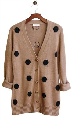 love this camel with black polka dots