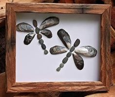 Manualidades con conchas marinas: cuadros