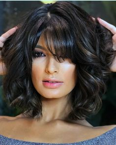 20 Stunning Wedding HairStyles For Short Hair Pretty Hairstyles, Wedding Hairstyles, Medium Hair Styles, Curly Hair Styles, Bob Cut Wigs, Layered Hair, Layered Cuts, Mid Length Hair, Great Hair