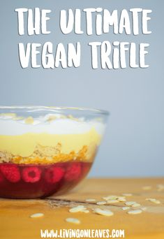 vegan trifle recipe - dairy free and delicious Vegan Trifle Recipe, Vegan Dessert Recipes, Savoury Recipes, Vegan Pudding, Pudding Recipe, Alkaline Diet Recipes, Vegan Treats, Vegan Food, Vegan Baking