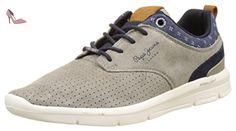Pepe Jeans London, Sneakers Basses homme, Gris (Pop Lt Grey), 45 (EU) - Chaussures pepe jeans (*Partner-Link)
