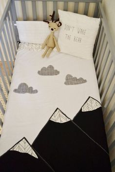 mountain blanket and woodland baby crib quilt