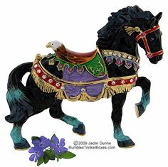 Black Carousel Horse - Maybe this guy is more my style. Look at the color in the tail and feet.  Gorgeous.