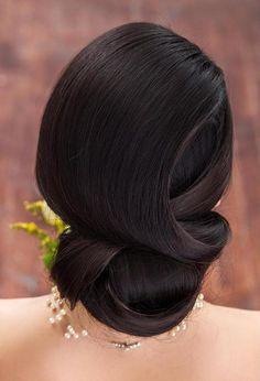 sleek+formal+wedding+updo+for+long+hair