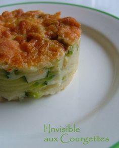 Gâteau invisible aux courgettes & parmesan