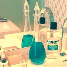 Mouthwash looks a little more chic and have done this**love it for sure!! need one more for the guest bathroom