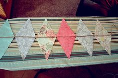 No Sew Pennant Banner easiest step by step