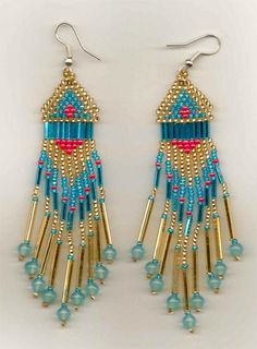 traditional-style-native-american-seed-beaded-earrings by Jersica