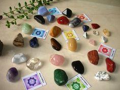 28 Natural Large Tumbled Stones Basic Chakra Balancing Healing Kit Set Reiki & Using Feng Shui:Amazon:Everything Else