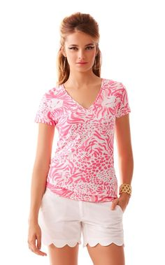 8f2826f929ee Michele V-Neck Top - Lilly Pulitzer Resort White Get Spotted Lilly Pulitzer  Prints,